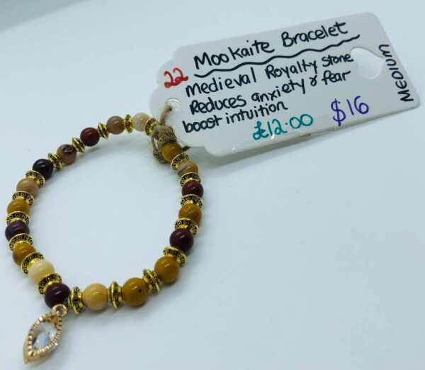 Mookaite Bracelet with Medieval Royalty Stone