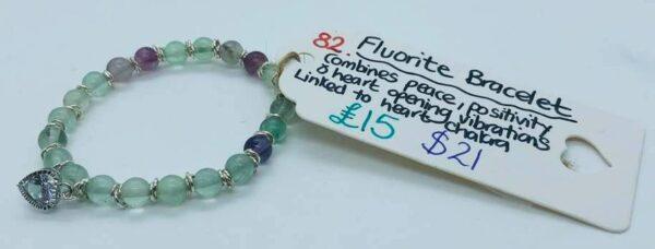 Fluorite Heart Chakra Bracelet