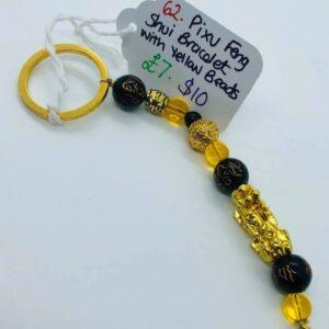 Pixu Feng Shui Bracelet with Yellow Beads