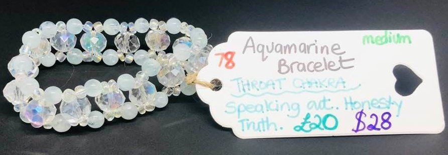 Aquamarine Throat Chakra Bracelet