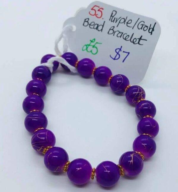 Purple Crown Chakra Bracelet