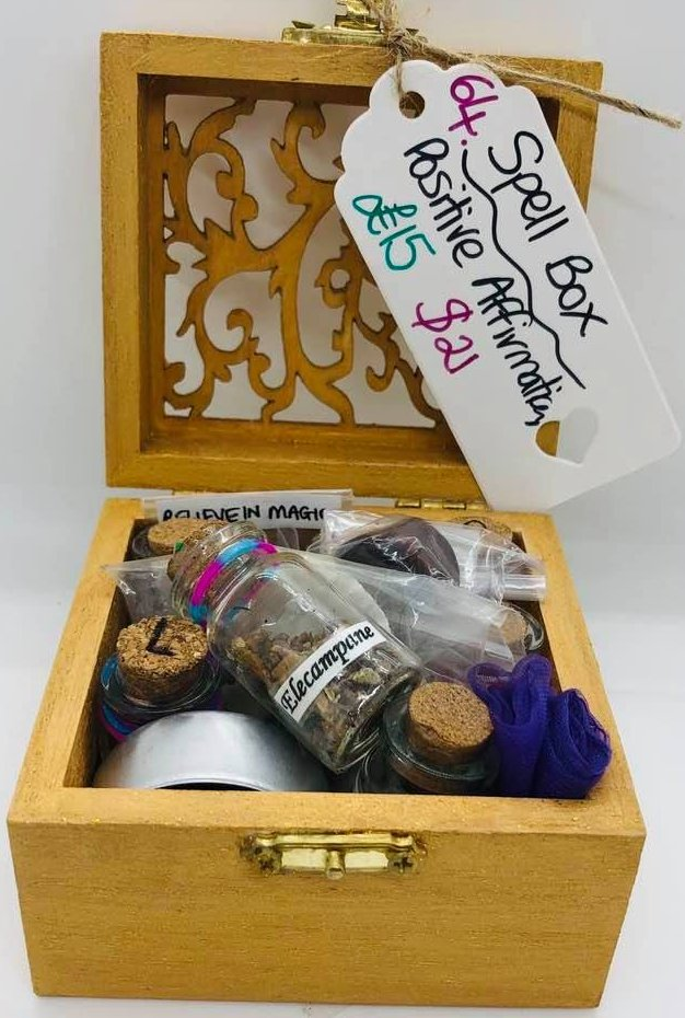 Small Magickal Spell Box for Positive Affirmations
